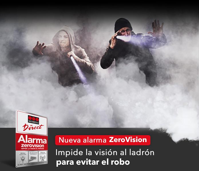La nueva alarma ZeroVision impide la visión al ladrón para evitar el robo